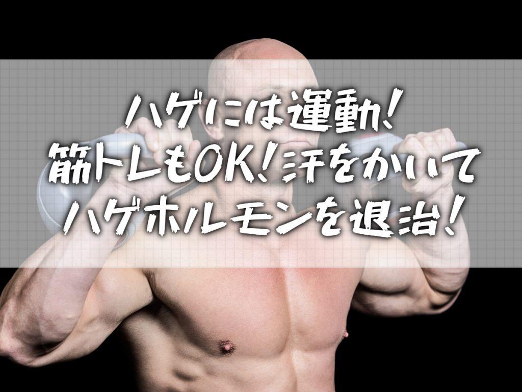 薄毛なら運動しろ!【有酸素運動】適度に体を動かしハゲ対策